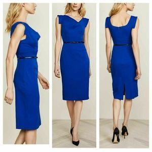 Black Halo Classic 'Jackie O' Sheath Dress - Blue
